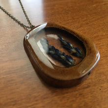 Load image into Gallery viewer, Lavender Bone Slice Pendant