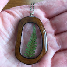 Load image into Gallery viewer, Fern Bone Slice Pendant