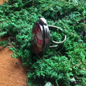 Poisonous Plant Ring, Red