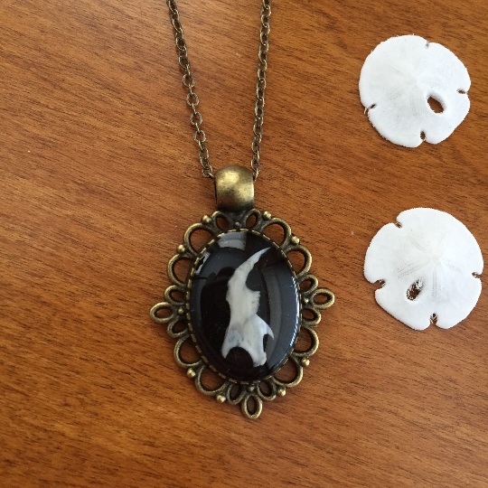 Jawbone Cameo Necklace