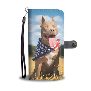 Personalized Pitbull Wallet Phone Case