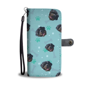 Personalized Rottweiler Paws & Bones Wallet Phone Case
