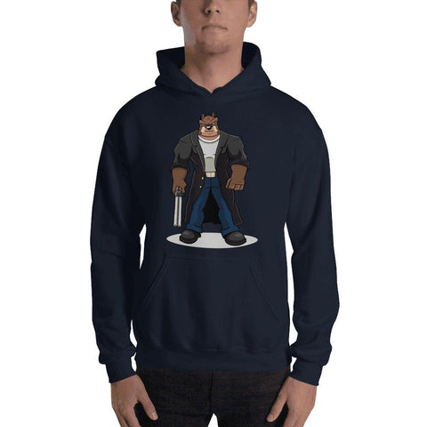 "Image of Boris ""The Butcher"" Hooded Sweatshirt Hoodies Printful Navy S"