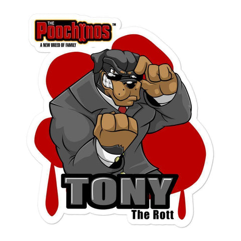 "Image of Tony ""The Rott"" Bloody Paw Sticker Stickers Printful 5.5x5.5"