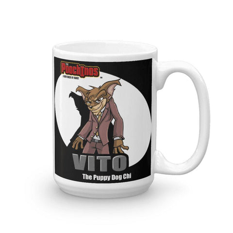 "Vito ""The Puppy Dog"" Spotlight Mug Mugs Printful 15oz"