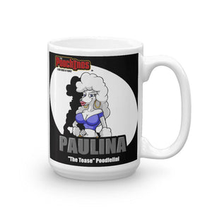 "Paulina ""The Tease"" Spotlight Mug Mugs Printful 15oz"