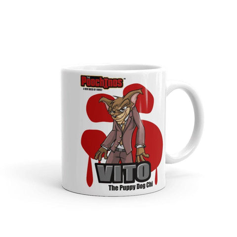 "Image of Vito ""The Puppy Dog"" Bloody Paw Mug Mugs Printful 11oz"