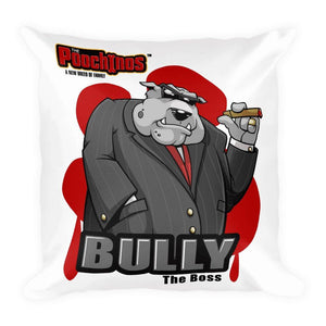 "Bully ""The Boss"" Bloody Paw Basic Pillow Pillows Printful Default Title"