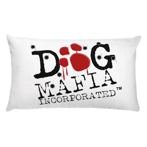 Dog Mafia Inc Bloody Paw Basic Pillow Pillows Printful 20×12