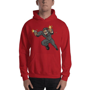 "Tony ""The Rott"" Jumping Guns Hooded Sweatshirt Hoodies Printful Red S"
