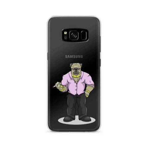 "Image of Pugsy ""The Pug Boss"" Samsung Case Phone Cases Printful Samsung Galaxy S8"