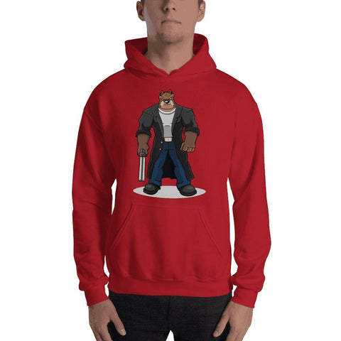 "Boris ""The Butcher"" Hooded Sweatshirt Hoodies Printful Red S"