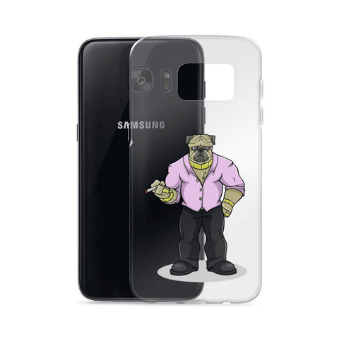 "Image of Pugsy ""The Pug Boss"" Samsung Case Phone Cases Printful"