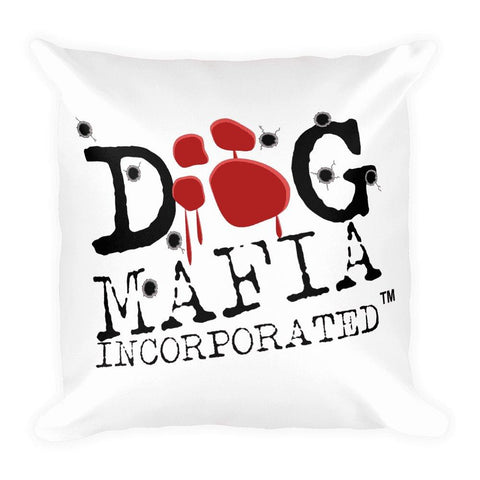 Dog Mafia Inc Bloody Paw Basic Pillow Pillows Printful 18×18