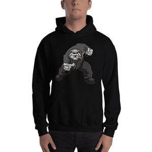 "Bully ""The Boss"" Pointing Hooded Sweatshirt 2 Print Hoodies Printful Black S"