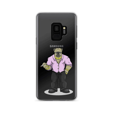 "Image of Pugsy ""The Pug Boss"" Samsung Case Phone Cases Printful Samsung Galaxy S9"