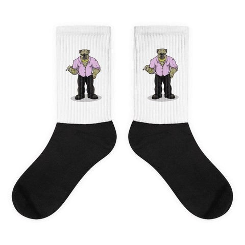 "Pugsy ""The Pug Boss"" Socks Socks Printful M"