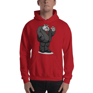 "Bully ""The Boss"" Hooded Sweatshirt Hoodies Printful Red S"