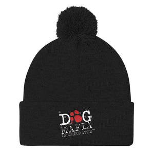 Dog Mafia Inc Pom Pom Knit Cap Hats Printful Black