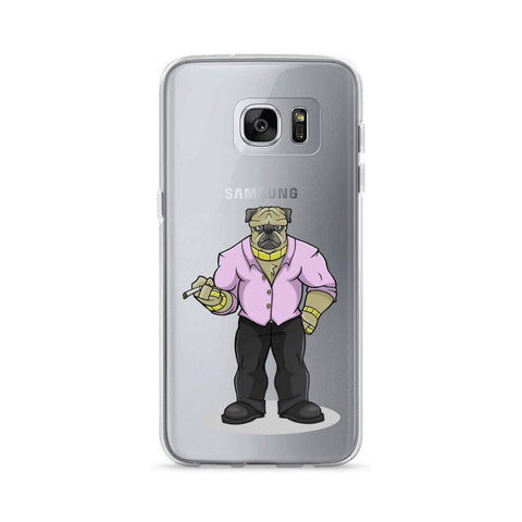 "Image of Pugsy ""The Pug Boss"" Samsung Case Phone Cases Printful Samsung Galaxy S7 Edge"