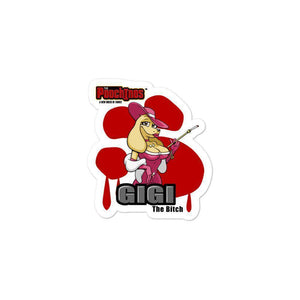 GiGi Goldalinie Bloody Paw Sticker Stickers Printful 3x3