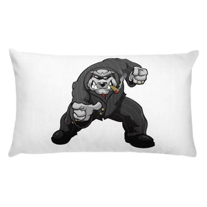 "Bully ""The Boss"" Pointing Basic Pillow Pillows Printful 20×12"