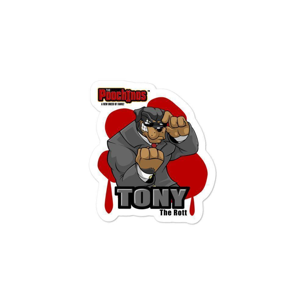 "Tony ""The Rott"" DeBoneo Bloody Paw Sticker - Dog Mafia Gear"