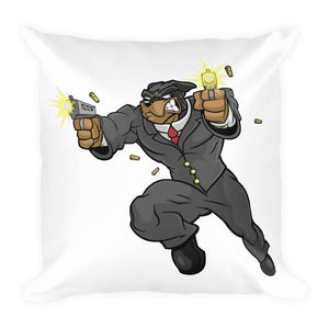 "Tony ""The Rott"" Jumping Guns Basic Pillow Pillows Printful 18×18"