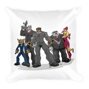 Poochino Family Basic Pillow Pillows Printful 18×18