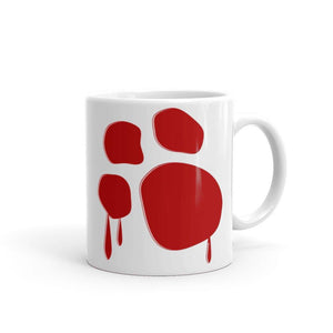 Bloody Paw Mug Mugs Printful 11oz