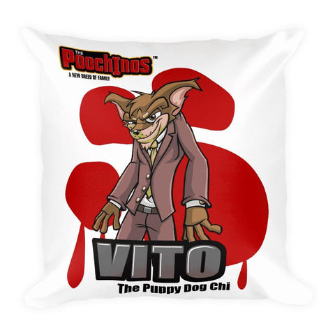 "Image of Vito ""The Puppy Dog"" Basic Pillow Pillows Printful Default Title"