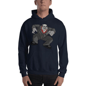 "Bully ""The Boss"" Jumping Gun Hooded Sweatshirt 2 Print Hoodies Printful Navy S"
