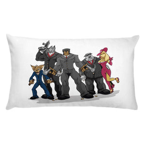 Poochino Family Basic Pillow Pillows Printful 20×12