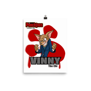 "Vinny ""The Chi"" Bloody Paw Poster - Dog Mafia Gear"