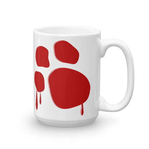 Bloody Paw Mug Mugs Printful 15oz