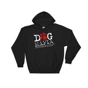 Dog Mafia Inc Hooded Sweatshirt 2 Print Hoodies Printful Black S