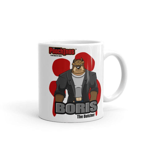 "Image of Boris ""The Butcher"" Bloody Paw Mug Mugs Printful 11oz"