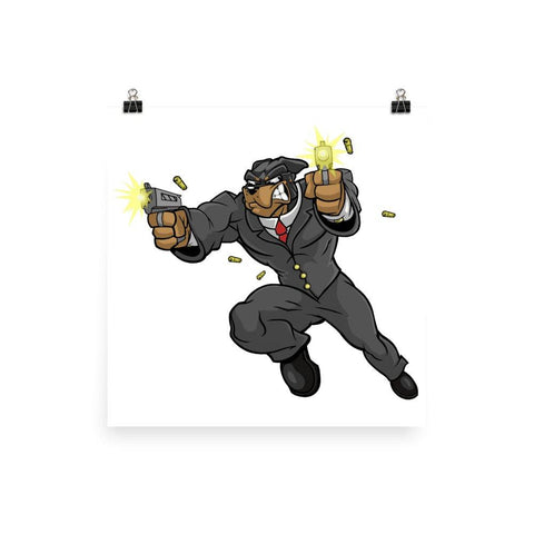 "Tony ""The Rott"" Jumping Guns Poster Posters Printful 12×12"
