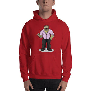 "Pugsy ""The Pug Boss"" Hooded Sweatshirt Hoodies Printful Red S"
