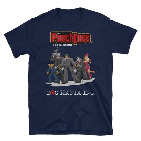 Image of Poochinos Crew T-Shirt T-Shirts Printful Navy S