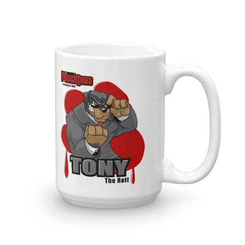 "Tony ""The Rott"" Bloody Paw Mug Mugs Printful 15oz"
