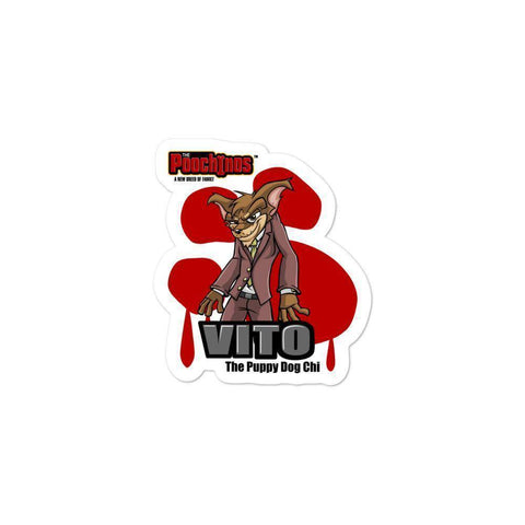 "Image of Vito ""The Puppy Dog"" Sticker Stickers Printful 3x3"