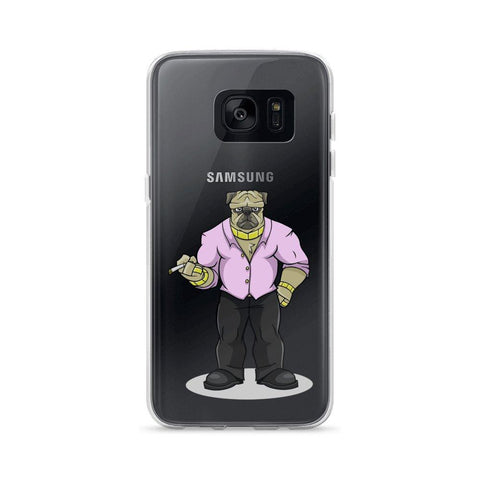 "Image of Pugsy ""The Pug Boss"" Samsung Case Phone Cases Printful Samsung Galaxy S7"