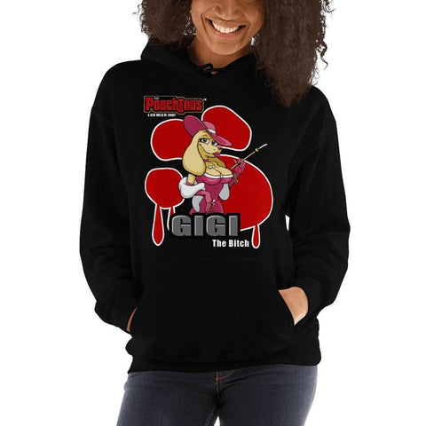 GiGi Goldalinie Bloody Paw Hooded Sweatshirt Hoodies Printful Black S