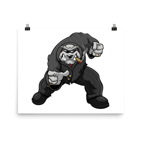 "Bully ""The Boss"" Pointing Poster - Dog Mafia Gear"