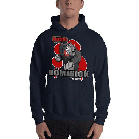 "Dominick ""The Dane"" Bloody Paw Hooded Sweatshirt Hoodies Printful Navy S"
