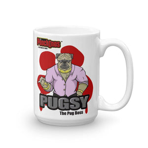 "Pugsy ""The Pug Boss"" Bloody Paw Mug Mugs Printful 15oz"