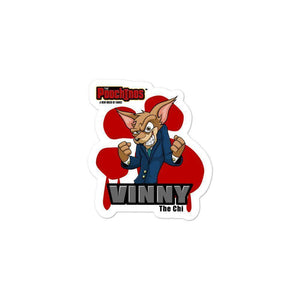 "Vinny ""The Chi"" Bloody Paw Sticker Stickers Printful 3x3"