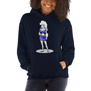 "Paulina ""The Tease"" Hooded Sweatshirt Hoodies Printful Navy S"