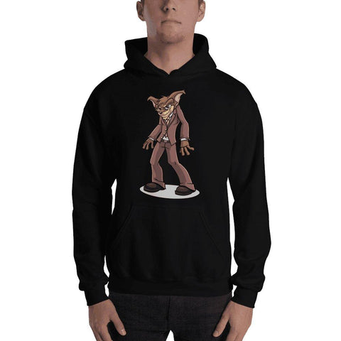 "Image of Vito ""The Puppy Dog"" Hooded Sweatshirt Hoodies Printful Black S"